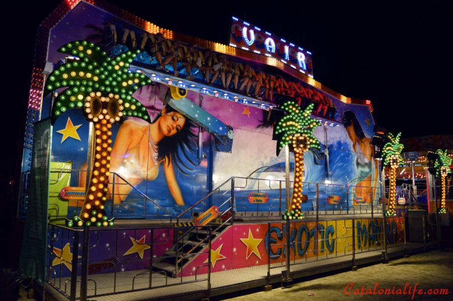 Аттракционы для молодежи и взрослых. Ярмарка аттракционов. Feria de Atracciones.