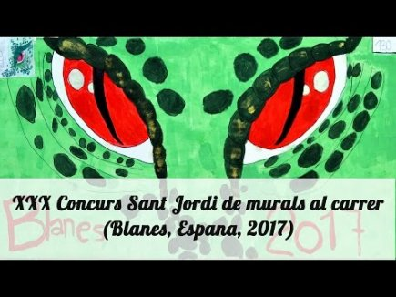 Embedded thumbnail for 30-ый конкурс рисунков в честь праздника Сант Джорди (Святой Георгий)(Бланес, Испания, 2017) / XXX Concurs Sant Jordi de murals al carrer (Blanes, Espana, 2017)