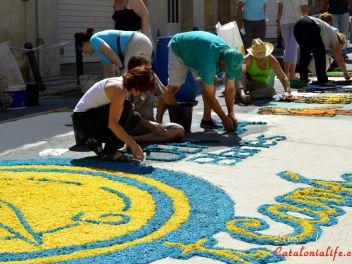 Фестиваль «Ковры из цветов» в Бланесе 2015 г. (Estores de Flors de Raval. Blanes 2015) #1