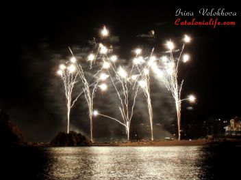 44-й Международный конкурс фейерверков Коста Брава в Бланесе 2014 , День 2-ой - Pirotecnia Mª Angustias Pérez  (Гранада)