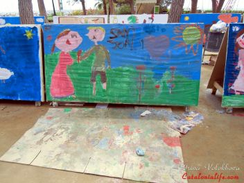27 Конкурс Рисунков на Улице, который был посвященный празднику Сант Джорди